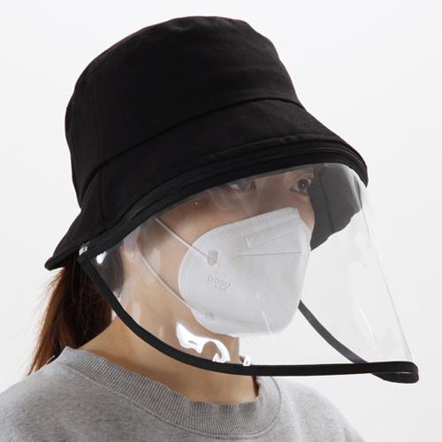 汚染対策 花粉症対策 ハット ウイルス対策 保護フェイスマスク クリップ付き 帽子 コロナ帽子