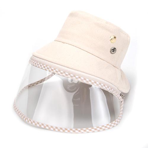 日よけ防止 フェイスガード 汚染対策 花粉症対策 ハット ウイルス対策 保護フェイスマスク クリップ付き 帽子 コロナ帽子
