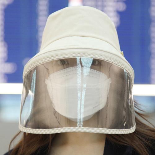 コロナウイルス影響 コロナ 症状 日よけ防止 フェイスガード 汚染対策 花粉症対策 ハット ウイルス対策 保護フェイスマスク クリップ付き 帽子 コロナ帽子