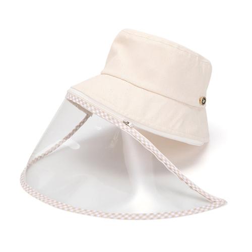 帽子 フェイスガード 汚染対策 花粉症対策 ハット ウイルス対策 保護フェイスマスク クリップ付き 帽子 コロナ帽子