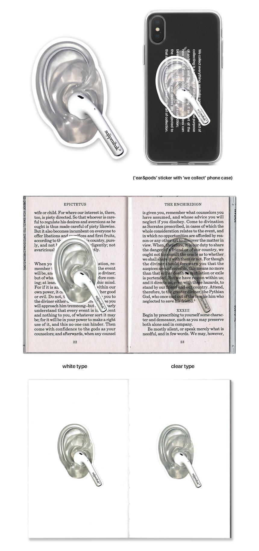 sujipmihak 'ear&pods' sticker