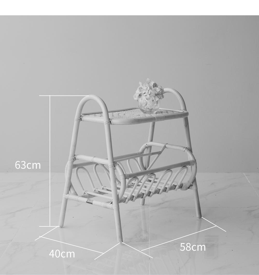 ヨン家具 韓国家具 インテリア ラタン 収納 2段 ラック 可愛い おしゃれ