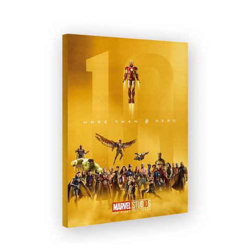 ArtNouveau マーベル 10周年 ゴールドアートポスター 公式グッズ格安
