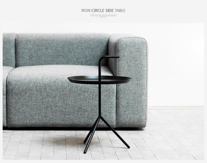 ムードDLM円形サイドテーブル